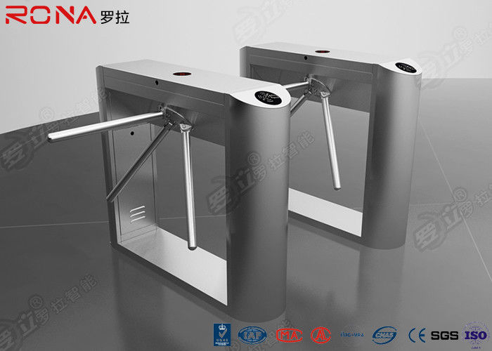 DC Brushless Rfid Scanner Tripod Barrier Gate Full Automatic 550mm Passage Width