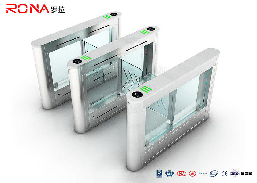High Speed Security Swing Turnstile Barrier Gate Remote Control System For Handicap