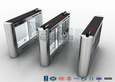 Anti - Collision Walk Through Metal Swing Barrier Gate Bus Station Card Reader System